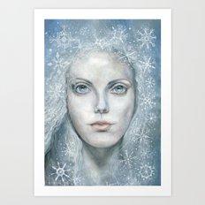 Winter or Snow Queen Art Print