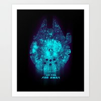Go Far, Far Away Art Print