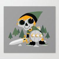 Skull Sword Guy Canvas Print