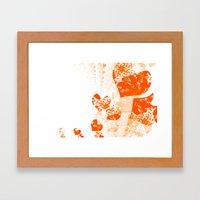 Heart - Orange Framed Art Print
