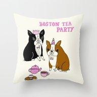Boston Tea Party Throw Pillow