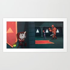 Castle Creep. Art Print