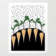 Eat Carrots Art Print