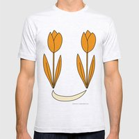 Oranje Tulpen Mens Fitted Tee Ash Grey SMALL
