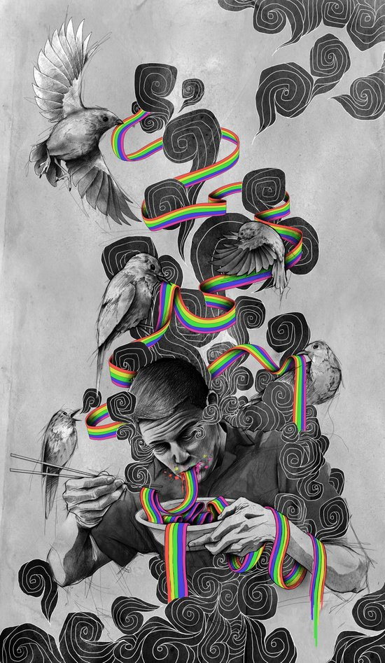 The Rainbow Eater Canvas Print