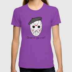 Psycho Killer Womens Fitted Tee Ultraviolet SMALL