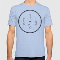 S6 : hipster clip Society6 Mens Fitted Tee Tri-Blue SMALL