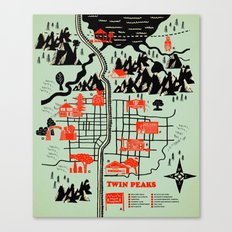 Twin Peaks Map Canvas Print