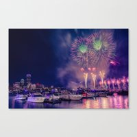 Happy Birthday America -3 Canvas Print