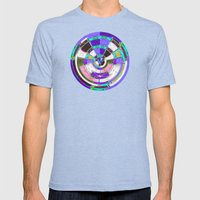 Glass Block Abstract Mens Fitted Tee Tri-Blue SMALL