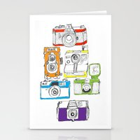 Colorful Cameras Stationery Cards