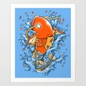 Magic Karp Koi Art Print