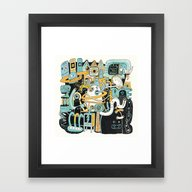Framed Art Print featuring Welcome My Son, Welcome … by Exit Man