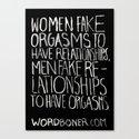 Orgasms Canvas Print