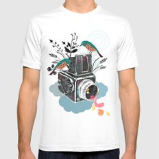 Vintage Camera Hasselbla… Mens Fitted Tee White SMALL
