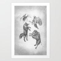 Paper Dance Art Print