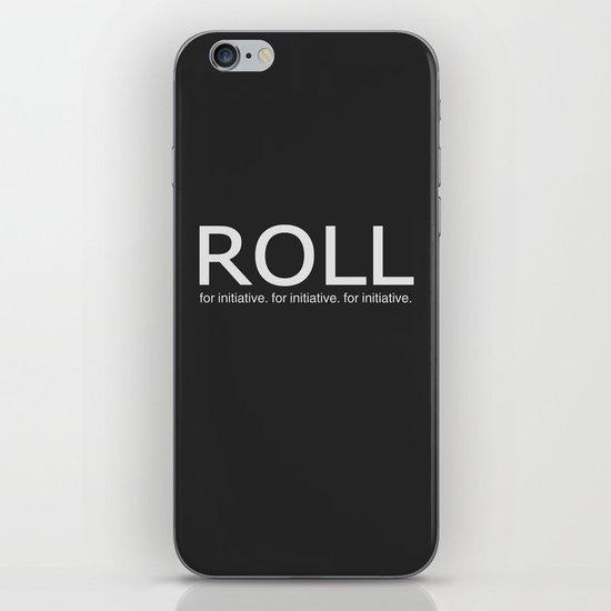 Roll for initiative! iPhone & iPod Skin