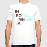 Insomnia / Insane Mens Fitted Tee White SMALL