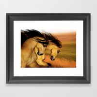 HORSES - The Buckskins Framed Art Print