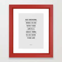 Notknowing Framed Art Print