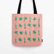 cactus pink, more cactus Tote Bag