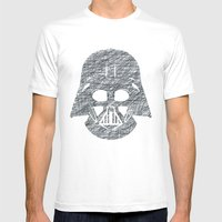 Lines Of Vader Mens Fitted Tee White SMALL