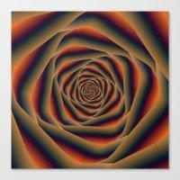 Tunnel Spiral in Orange Blue and Violet Canvas Print
