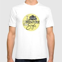 I Think Therefore I Am..… Mens Fitted Tee White SMALL