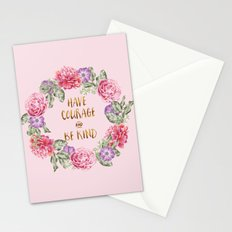 Have Courage and Be Kind - Pink Stationery Cards