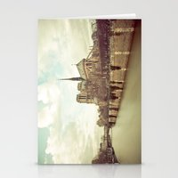 Notre Dame Cathedral on the Seine Stationery Cards