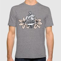 azalee Mens Fitted Tee Tri-Grey SMALL