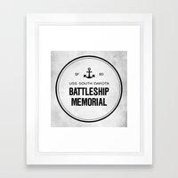 Battleship Memorial Framed Art Print