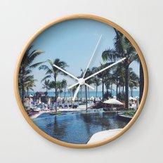 Paradise in Bali Wall Clock