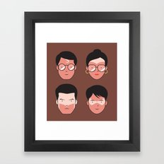 Superhero Tan Lines Framed Art Print