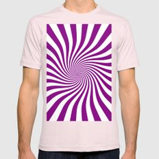 Swirl (Purple/White) Mens Fitted Tee Light Pink SMALL