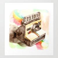 Vintage gadget series: Polaroid SX-70 OneStep camera Art Print