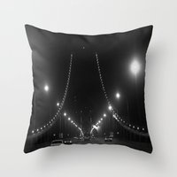 Late Nights on the Bay Bridge Throw Pillow