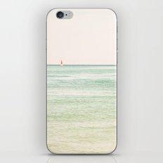 Nautical Red Sailboat iPhone & iPod Skin