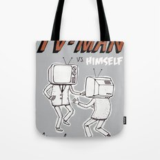tv man vs himself Tote Bag