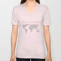This is a Cat's World Unisex V-Neck