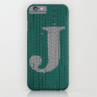 iPhone & iPod Case featuring Winter clothes. Letter J III by Studio Caravan