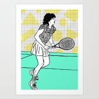 Gabi Sabatini Art Print