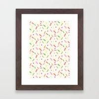 sweet things: liquorice comfit Framed Art Print