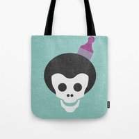 Skull with Afro. Tote Bag
