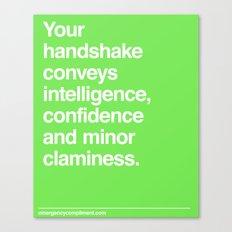 Handshake Canvas Print