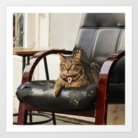 The Catfather Art Print