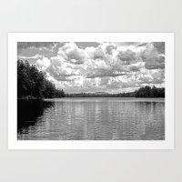 Between Lake And Sky Art Print