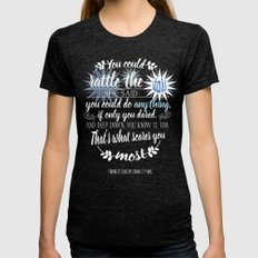 Throne Of Glass By Sarah… Womens Fitted Tee Tri-Black SMALL