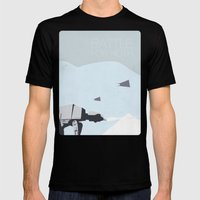 Empire Strikes Back movie poster. Mens Fitted Tee Black SMALL