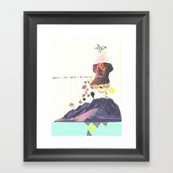 In A Pretty Land---for R… Framed Art Print